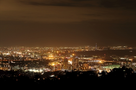 福岡三日月会のときの夜景