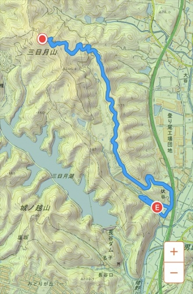 三日月山渓流公園ルート