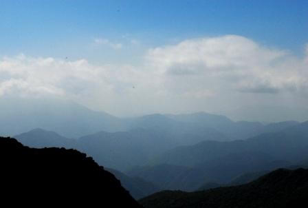 山のグラデーション