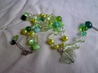 グリーンのネックレス