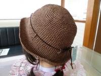 和紙の糸の帽子・小