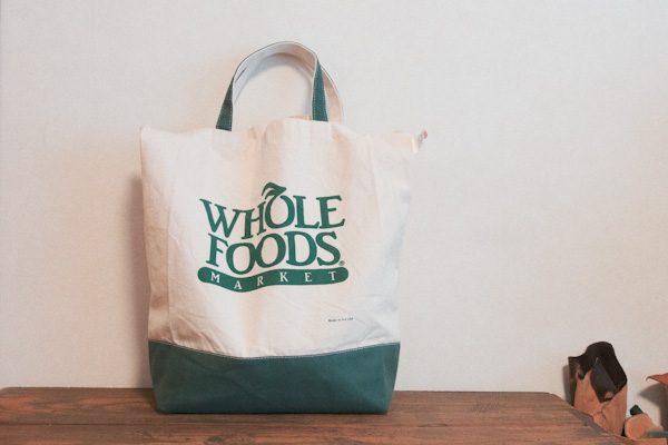 WHOLE FOODS MARKETのキャンバスバッグ