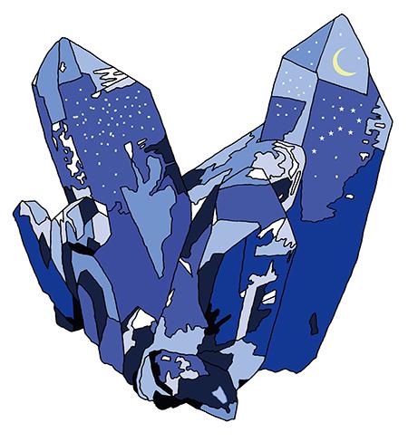 鉱物と理科室のぬり絵/ルーチカ
