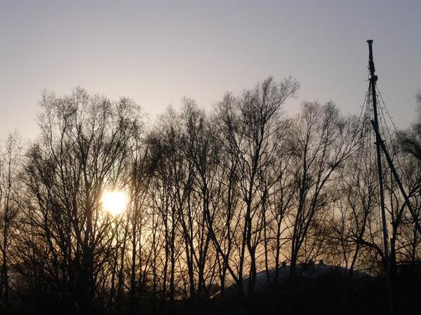 ハートの夕日
