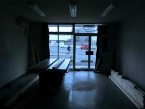 工事中の店からの眺め