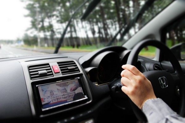 運転中の画像