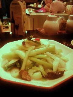上海邨の野菜炒め