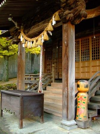 鳴子温泉 温泉神社のこけし
