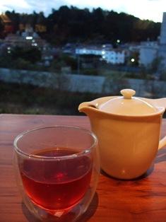 AURA cafe  cream orangeのお茶