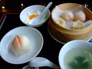 中国茶cafe 江畔麗水の点心ランチ