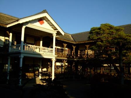 登米 教育資料館 木造の小学校