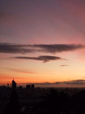 早暁の青葉山