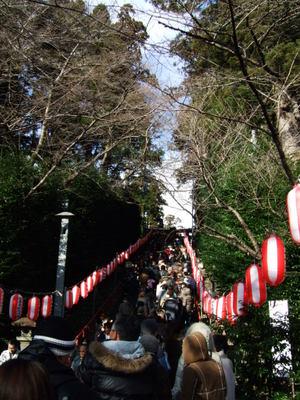 仙台のお正月 大崎八幡宮 長い行列
