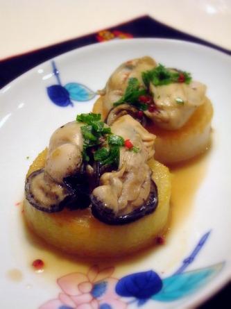 牡蠣のソテー&大根ステーキ