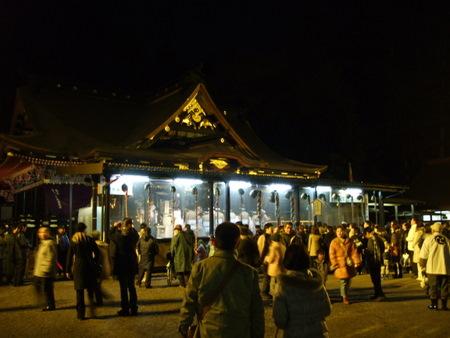 大崎八幡宮 どんと祭 社殿