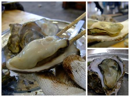 松島 かき小屋の牡蠣