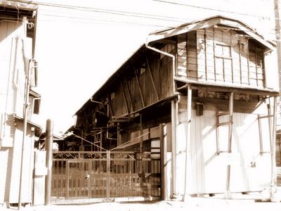 奥州街道の古い木造建築