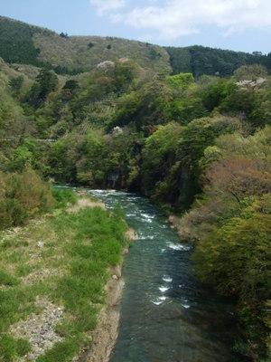 小原温泉の渓谷