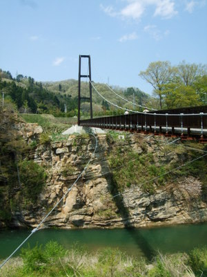 スパッシュランドの大つり橋