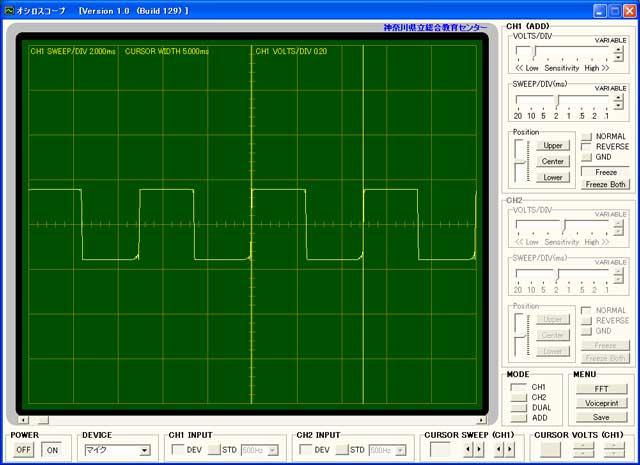 テストボードの波形1