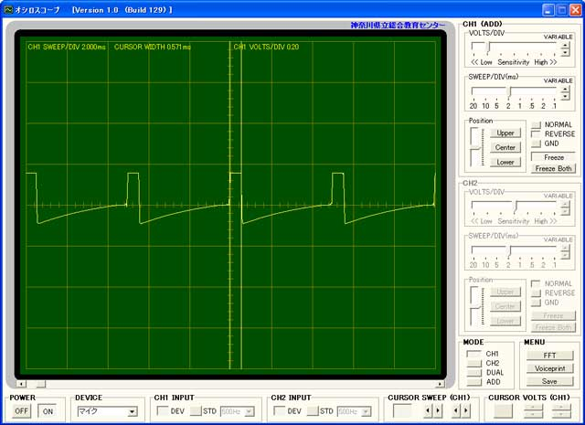 テストボードの波形2