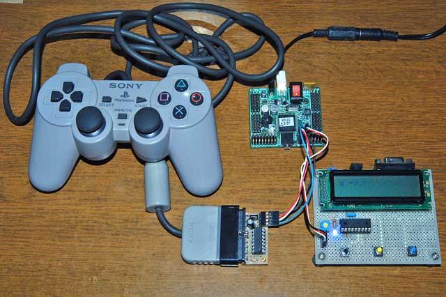 PS2コントローラのテスト