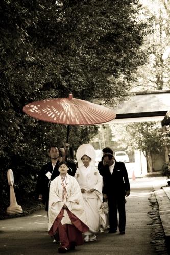 花嫁行列にて
