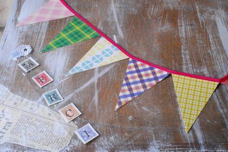 紙でできたおくりもの。FLAGガーランド。