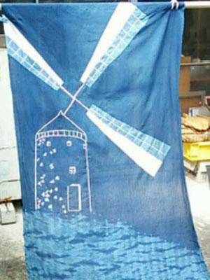 2015藍染め風車