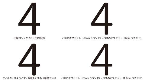 Illustratorで文字の角を丸くする方法