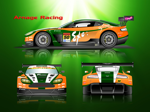 Exe Aston Martin壁紙のデザイン2