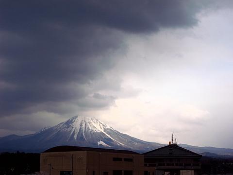 出張先にある有名な山、大山