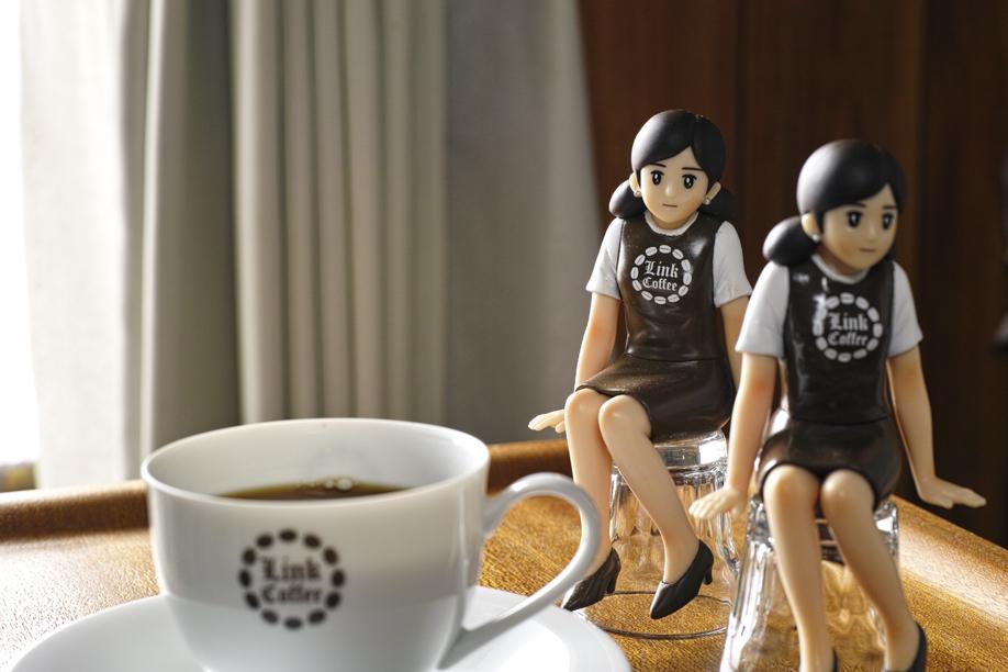 コーヒー屋さんのフチ子