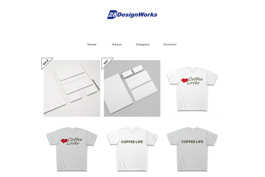 28デザインワークスのネットストア