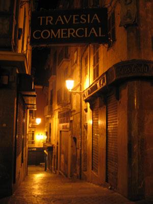 パルマ市内夜の街