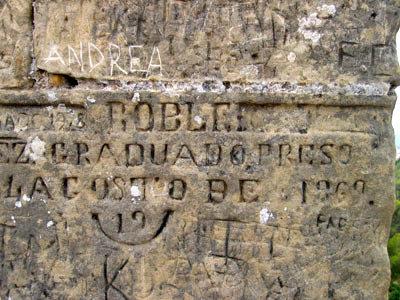 ベルベル城の落書き(落彫り?)
