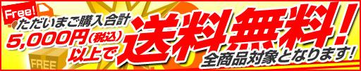 5000円(税込)以上送料無料