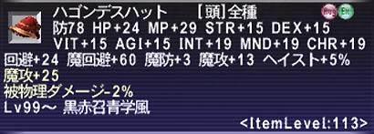 ハゴンデスハット(魔攻+25)