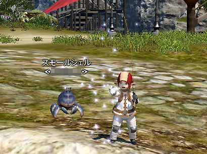 漁師とカニ