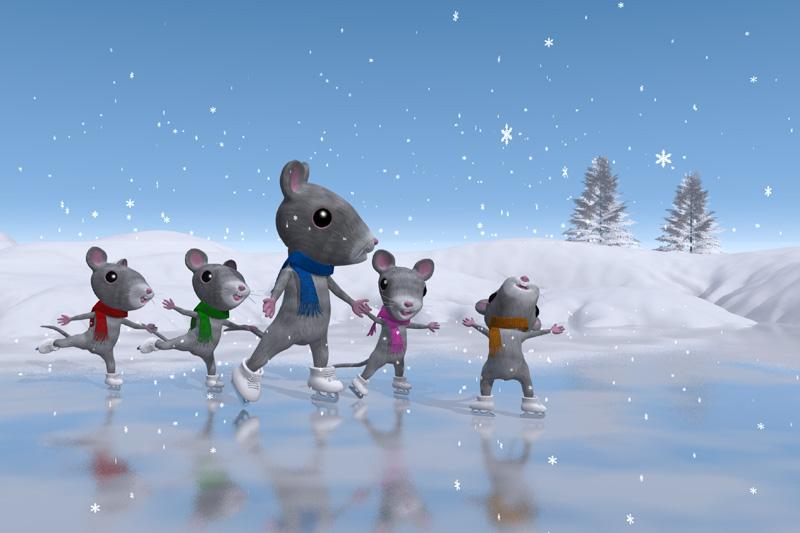 ネズミのスケート