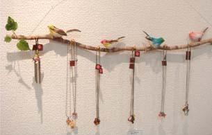 小鳥アクセホルダー