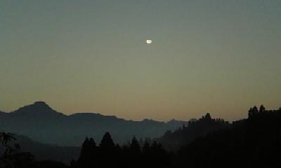 満月!の朝