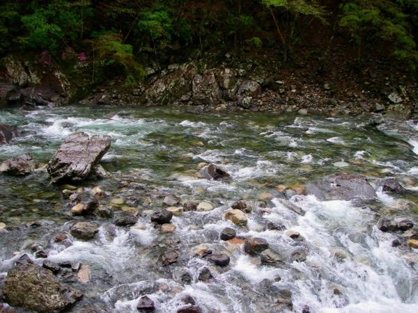 増水の天川