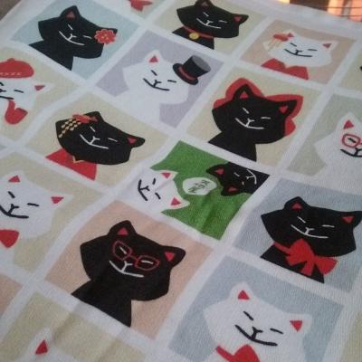 猫ハンドタオル
