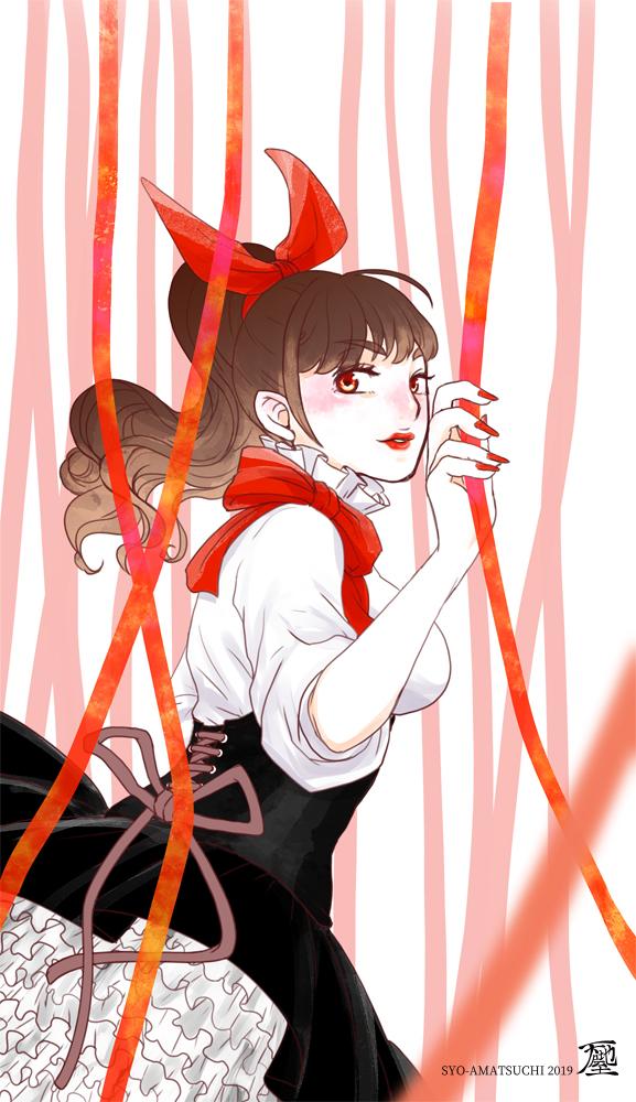 赤いリボンの女の子