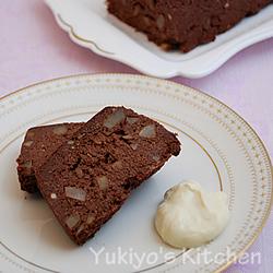 ごぼうのチョコケーキ