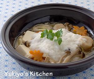 かわいいタジン鍋:吹き寄せとろろ蒸し