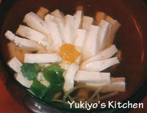 Yukiyo:菊花豆腐のすまし汁