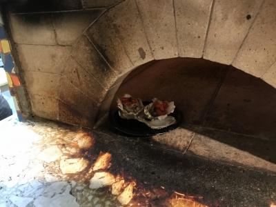 石窯焼き牡蠣