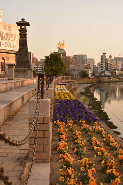 福岡、中洲、キャナルシティ博多、清流公園